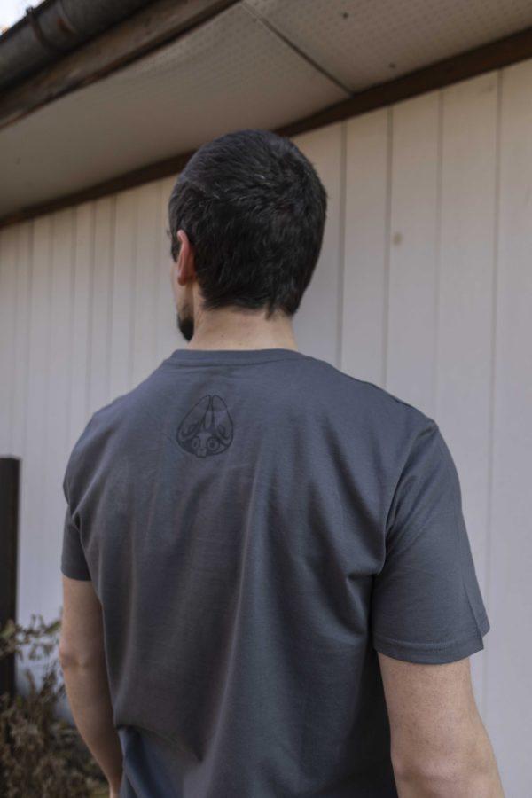 stereofox gray unisex tshirt back